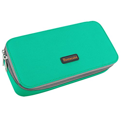 Homecube Pencil Case, Large Capacity Pen Case Desk Organizer with Zipper for School & Office Supplies - 8.74x4.3x2.17 inches,Green