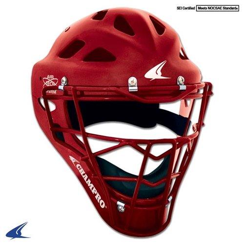 Champro Sports Hockey Style Headgear, Scarlet, ()