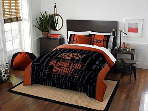Oklahoma State Cowboys - 3 Piece FULL / QUEEN SIZE Printed Comforter & Shams - Entire Set Includes: 1 Full / Queen Comforter (86