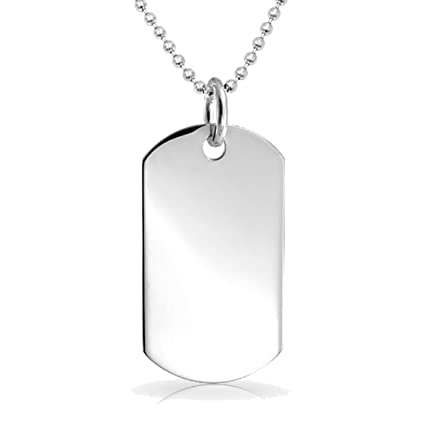 Fine Jewelry Mens Flame Dog Tag Stainless Steel HI8rc3V4o