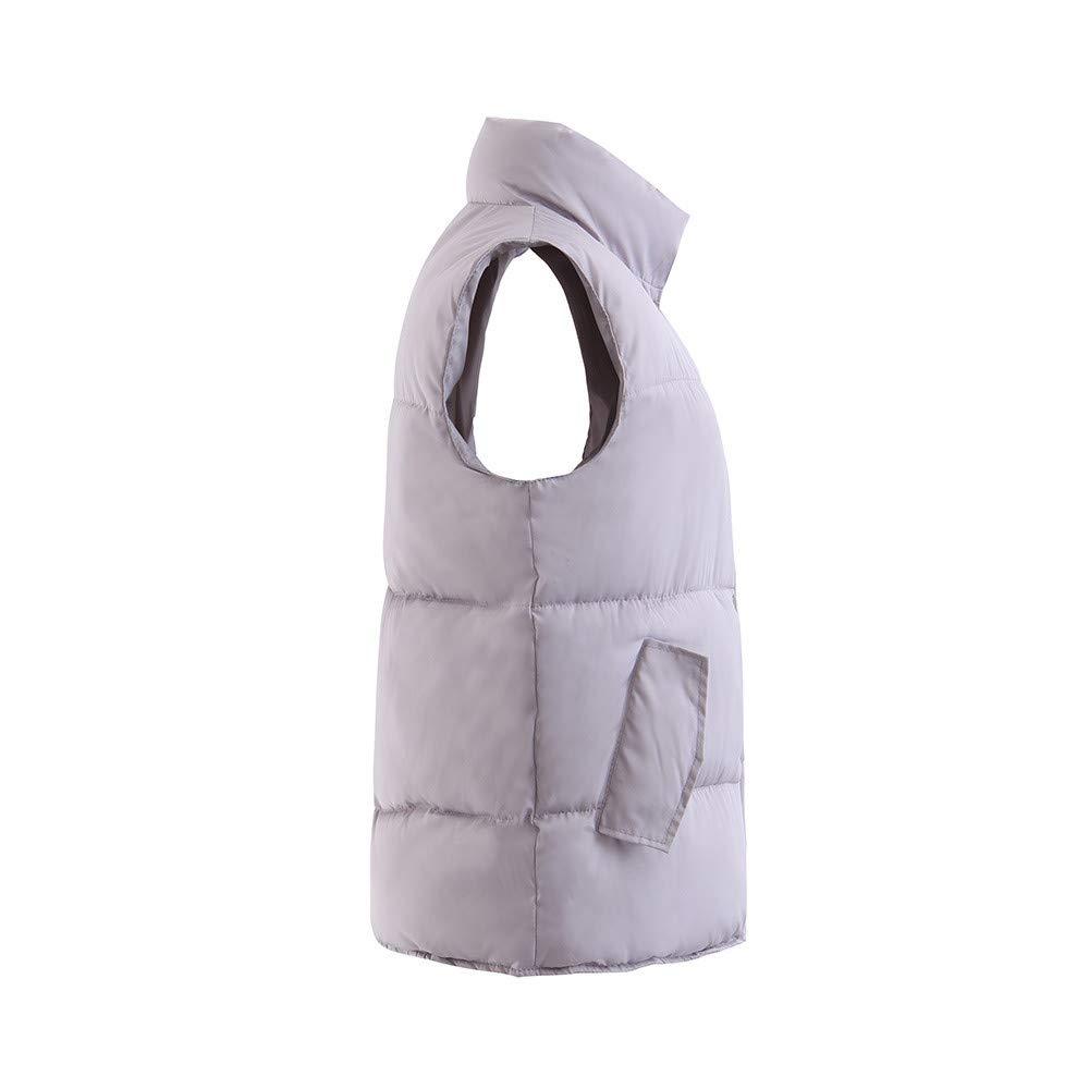 Inverlee Women Regular Cotton Suit Plus Velvet Sleeveless Button Warm Vest Jacket