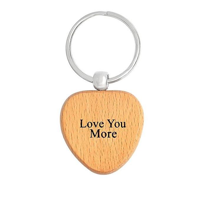 Amazon.com: yinli Best Ever madera etiqueta de llavero de ...