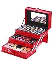 B-AIMS Mixed Beauty Makeup Kits Cosmetic Case Set Eyeshadow Palette Organizer Blushes Lip Make Up Jewellery Box Storage Holder 12