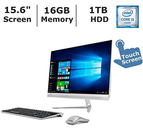 Lenovo IdeaCentre 520A Flagship Premium High Performance All-in-One Desktop, 23 inch Full HD Touchscreen, Intel Core i5-7200U processor, 16GB DDR4 RAM, 1TB HDD, WiFi, BT, Windows 10
