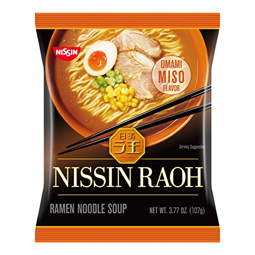 Nissin Raoh, Miso, 3.77 Ounce (Pack of 6)