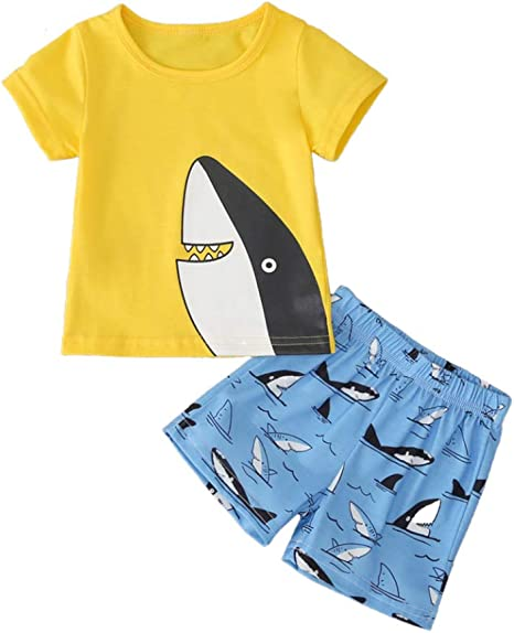 Decdeal Ropa de Verano para Bebé Camiseta Azul y Pantalones ...