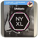 D'Addario Limited Edition Tin - 3 Sets of D'Addario EXL120 and 1 Set of NYXL0942 with Picks and Pick Holder