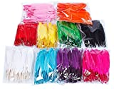 Colorful Goose Feathers 100pcs/pack/ (10pcs X10colors) (4--6 inch)