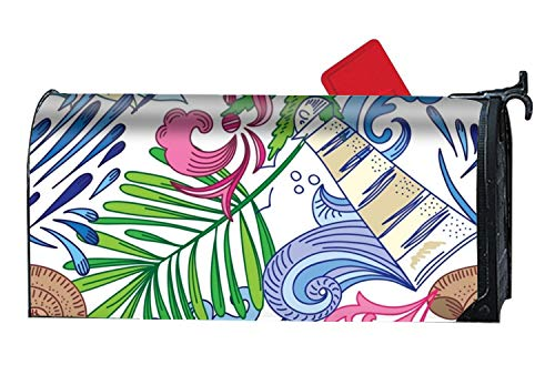 BABBY Custom Magnetic Mailbox Cover Mail Wrap Standard Mailboxes Cover-Travel Sea by BABBY