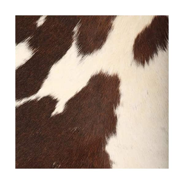 vidaXL Chaise Cuir Véritable de Chèvre Marron/Blanc Forme de Papillon Meuble
