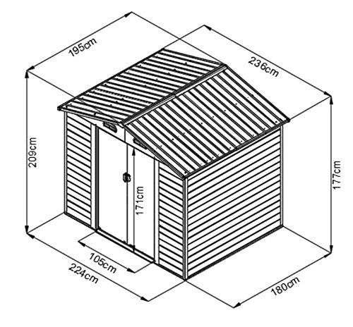 Storage Shed Garage Car For Garden Galvanised Sheet Metal
