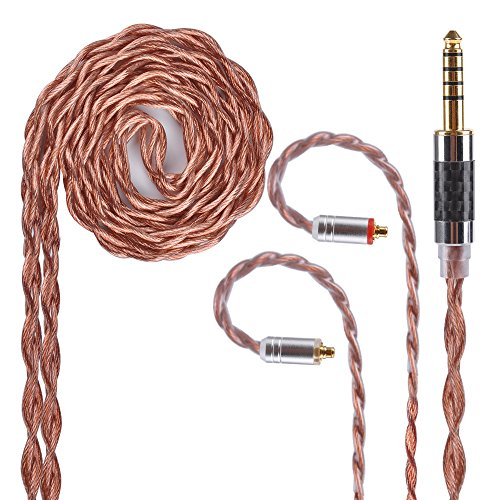 MMCX Earphone Cable Yinyoo 4 Core Copper Alloy IEM Cable wit