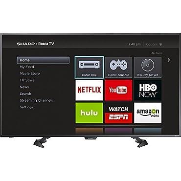 """Sharp LC-50LB481U 50"""" LED 1080p Smart HDTV Roku TV"""