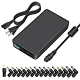 [5V USB] Outtag 90W Ultra-Slim Laptop Charger 15V-20V Universal Power AC Adapter w/Multi Tips Removable DC CORD for HP Dell Acer Asus Toshiba IBM Lenovo Samsung Sony Chromebook Notebook Ultrabook
