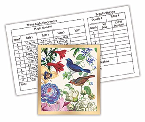 Michel Design Works 12-Count Bridge Score Card Tallies, Romance