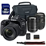 Canon EOS 80D DSLR Camera Bundle with Canon EF-S 18-135mm f/3.5-5.6 IS USM Lens + Tamron Zoom Telephoto AF 70-300mm Autofocus + 32 GB Memory Card + Camera Case