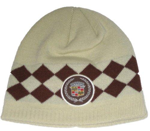 Cadillac Argyle Style Knit Beanie Hat (Khaki/Tan) ()
