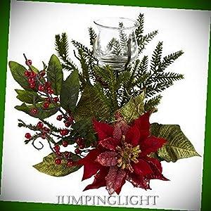 JumpingLight Poinsettia Candelabrum Artificial Flowers Wedding Party Centerpieces Arrangements Bouquets Supplies 54