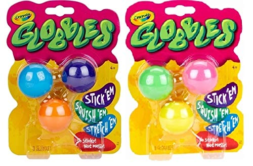 16 Pieces Multicolored for sale online Crayola Globbles Squish Toys