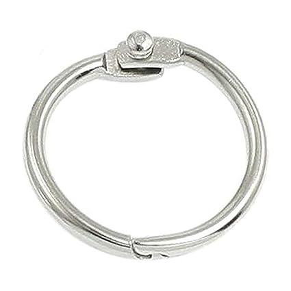 Llavero de plata con 5 anillas y hojas móviles: Amazon.es ...