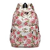 BCDshop Women Backpacks Rucksack College Schoolbag Lady Travel Backpack Bookbags,Floral (I)