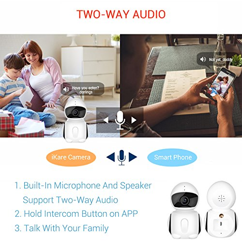 WiFI-Security-Camera-IKARE-1080P-Indoor-Security-Camera-for-Baby-Surveillance-Remote-Monitor-with-Night-Vision-Motion-Detection-Pet-Cam-with-iOS-Android-App-2-Way-Audio-Support-Micro-SD-Card