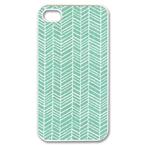 Zachcolo Green Stripe Cases for IPhone 4/4s, with White