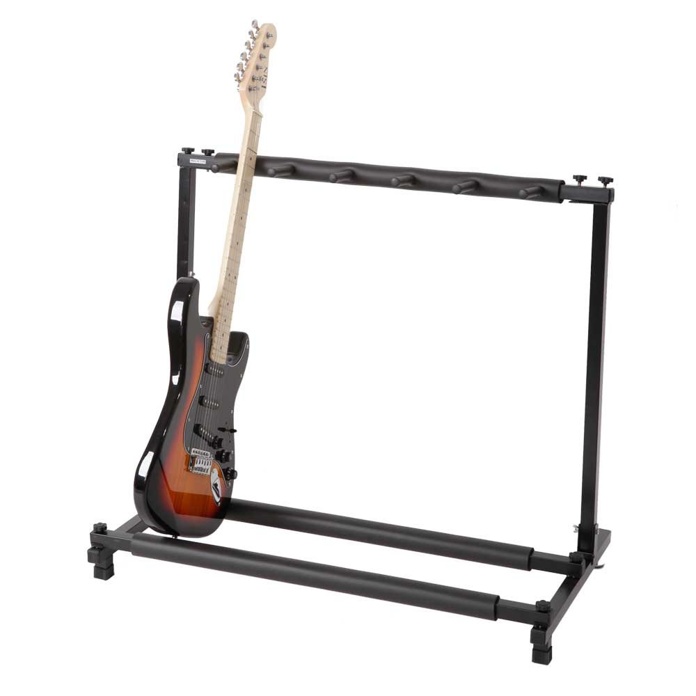 Kuyal Guitar Stand,Multi-Guitar Display Rack Folding Stand Band Stage Bass Acoustic Guitar, Black (5 Holder)