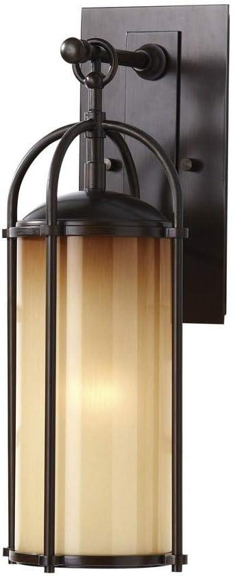 Feiss OL7604HTBZ Dakota Outdoor Patio Lighting Wall Lantern, Bronze, 1-Light (6
