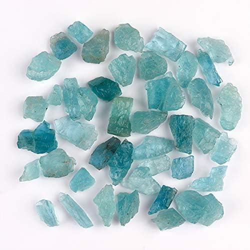 Natural Aquamarine Crystal Amazing Color Loose Raw Stone 10 Pieces