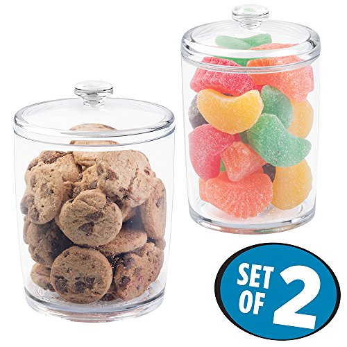 Inter Design Kitchen Storage Jar for Treats, Cookies, Candy, Chocolate - Set of 2, (Chocolate Candy Dish)