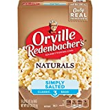Orville Redenbacher's Naturals Simply Salted Popcorn, 3.29 Ounce Classic Bag, 3-Count, Pack of 12