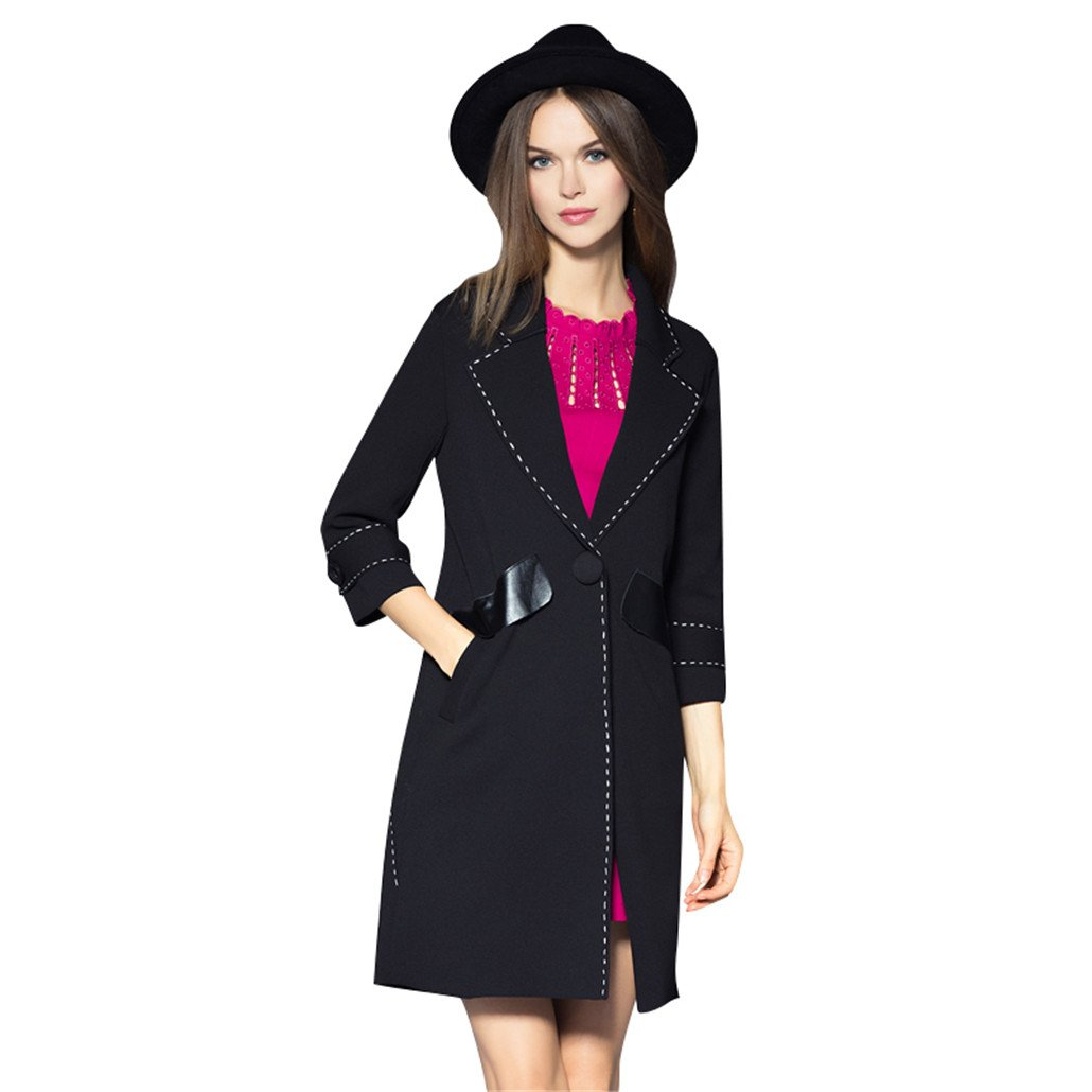 Women Wool Blends Coat Solid Color Elegant Style Long Coat