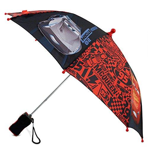 Amazon.com: Disney Boys Little Cars Lightning McQueen Rainwear Character Umbrella, red/Black, Age 3-7: Clothing