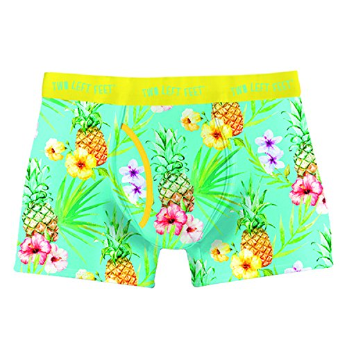 Two Left Feet Mens Boxer Brief Underwear, Island Paradise, Large