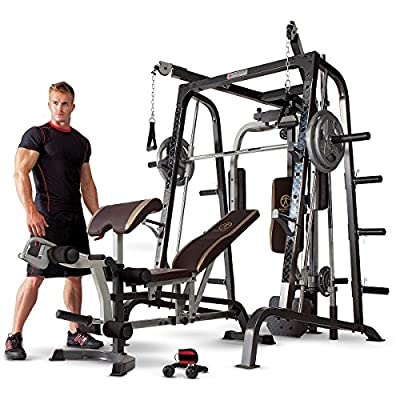 Marcy Smith Cage Workout Machine Total Body Training Home Gym System with Linear Bearing by Marcy
