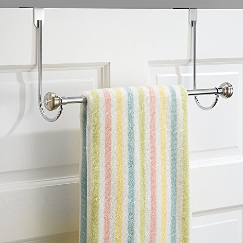 InterDesign York Over-the-Door Bath Towel Bar Holder Rack