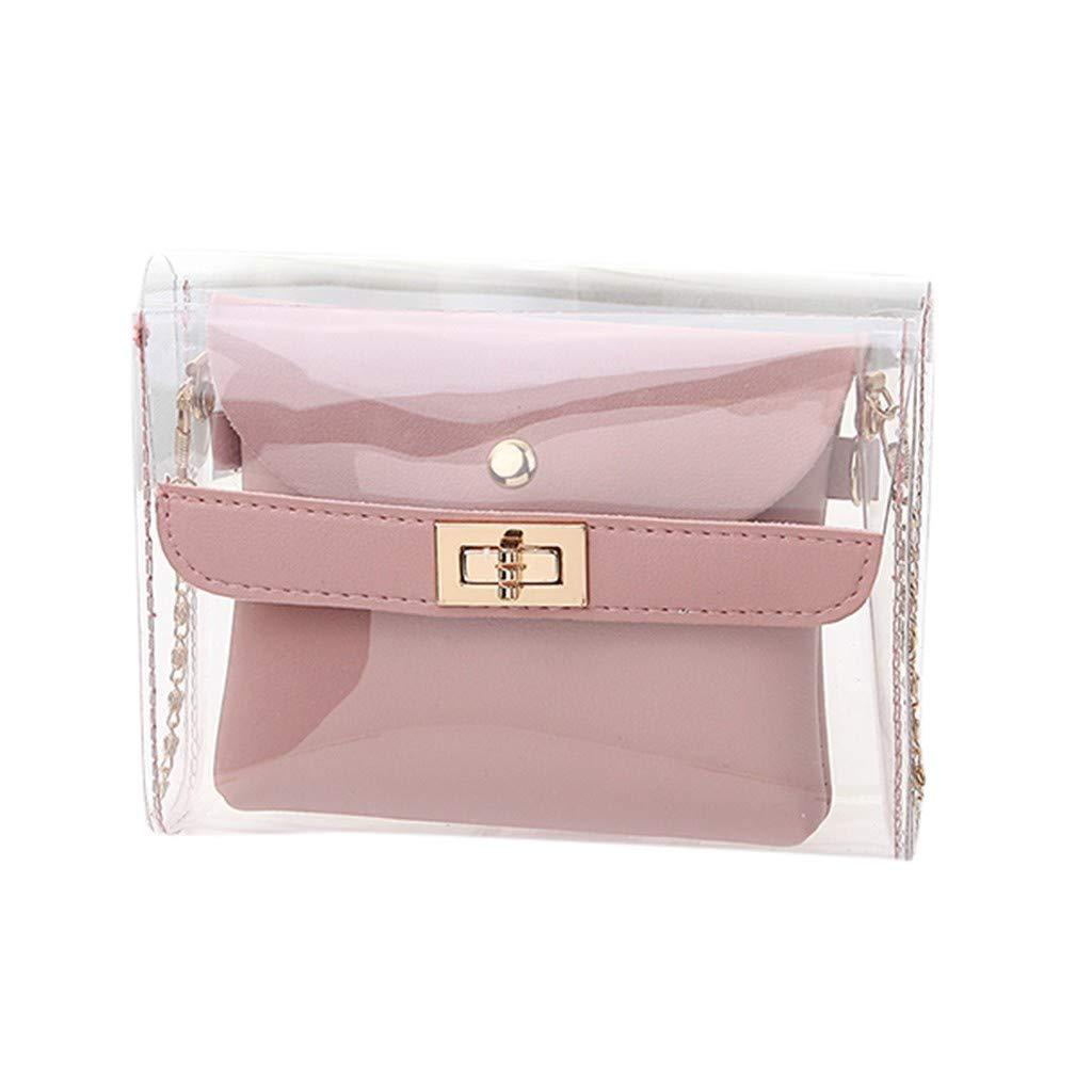 RAINED-Women Clear Tote Bag Transparent New Versatile Diagonal Shoulder Bag Beach Waterproof Bag Cross Body Bag