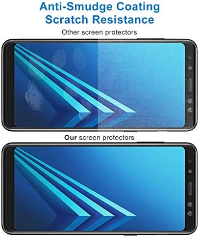 2018 0.26mm 9H Surface Hardness 2.5D Curved Edge Tempered Glass Screen Protector Clear 100 PCS for Galaxy A8 YINZHI Screen Protector Film