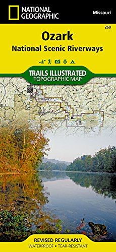 Ozark National Scenic Riverways (National Geographic Trails Illustrated Map) - Missouri State Map