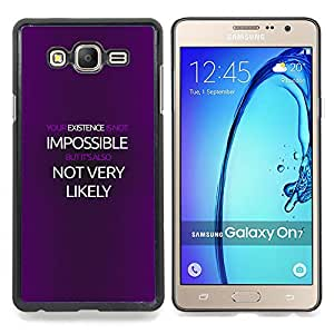 "Qstar Arte & diseño plástico duro Fundas Cover Cubre Hard Case Cover para Samsung Galaxy On7 O7 (Cartel Imposible"")"