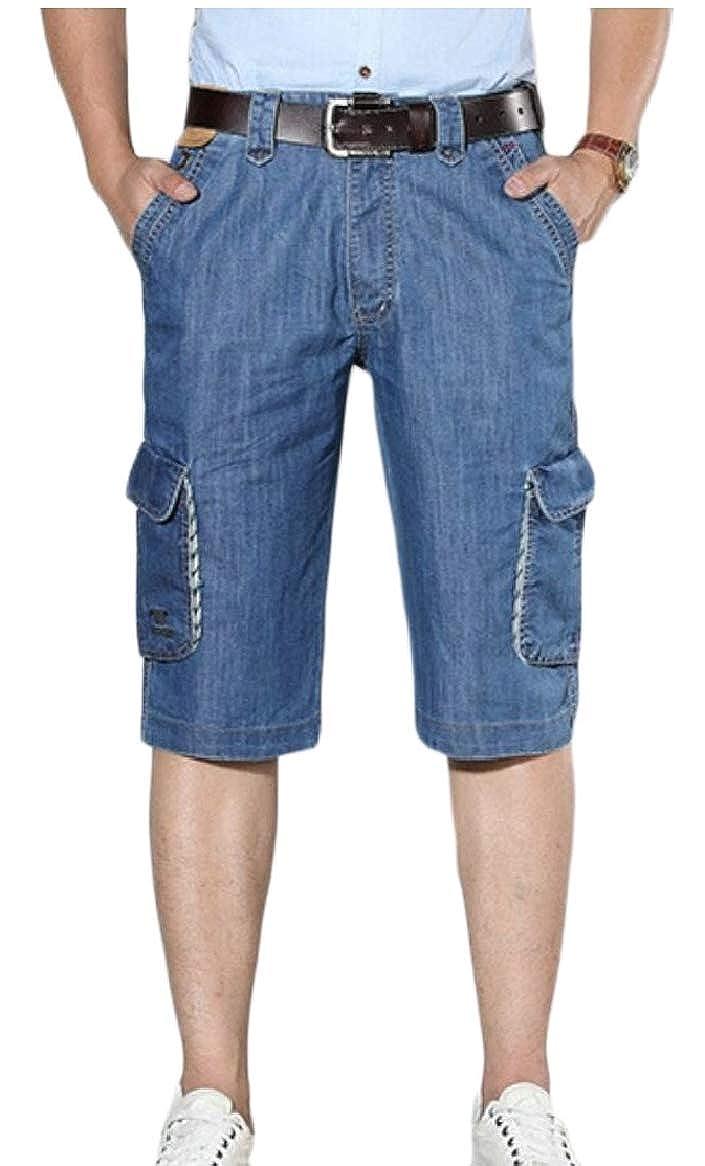 ecd4d1e47 Light bluee Qiangjinjiu Men's Men's Men's Denim Jeans Outdoor Cargo ...