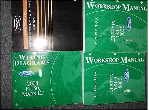 2008 ford f-150 lincoln mark lt service shop manual set x: ford:  amazon com: books