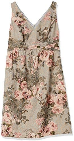 Adrianna Papell Women's Sleeveless Floral Dress with Pleated Waist