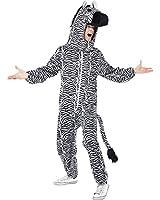 Smiffy's Men's Zebra Costume with Bodysuit and Hood