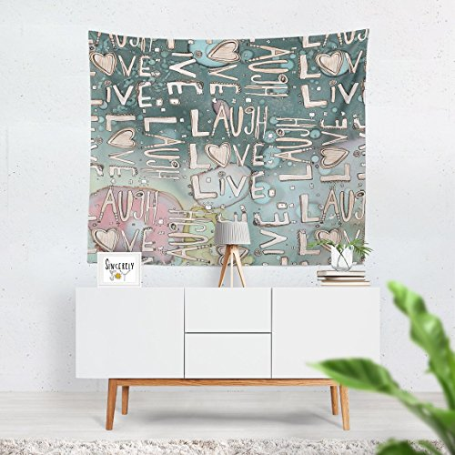 Laugh Love Live Art Wall Hanging Tapestry - shabby chic wall decor - shabby chic wall tapestries