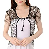 Product review for Sheicon Women Lace Hollow Out Handmade Open Front Shrugs For Dress Rhinestone