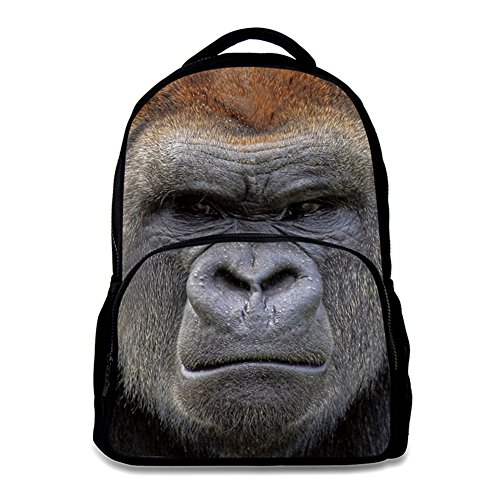 (Animal School Bag Children's Age6-16 Polyester 17 Inch Laptop Backpack (King Kong))
