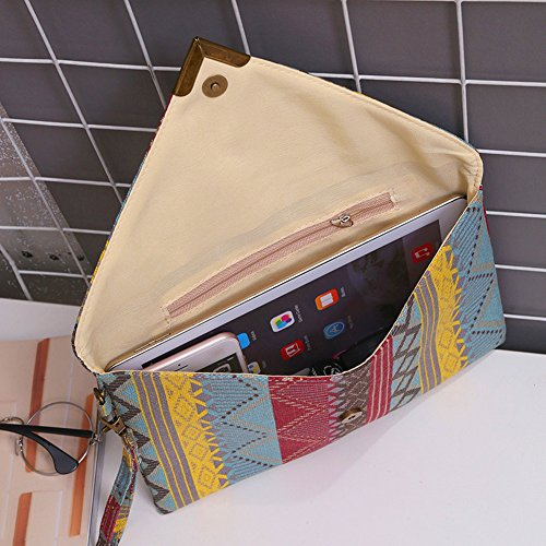 Tote Bag Handbags Domybest Ladies 2 Embroidered Purse Women Envelope Clutch Colorful xgB1qX