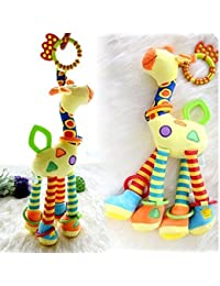 Infant Baby Development Soft Giraffe Animal Handbells...